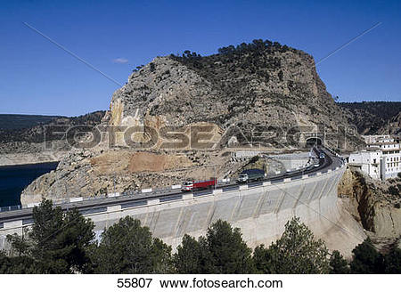 Picture of Road passing through mountains, Contreras, Cuenca.