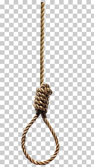 Soga suicida cuerda de nudo del suicidio, guita PNG Clipart.
