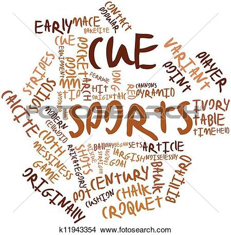 Drawings of Word cloud for Cue sports k11943354.