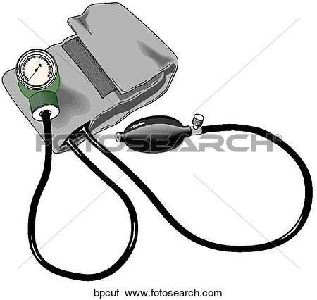 Clipart of Blood Pressure Cuff bpcuf.