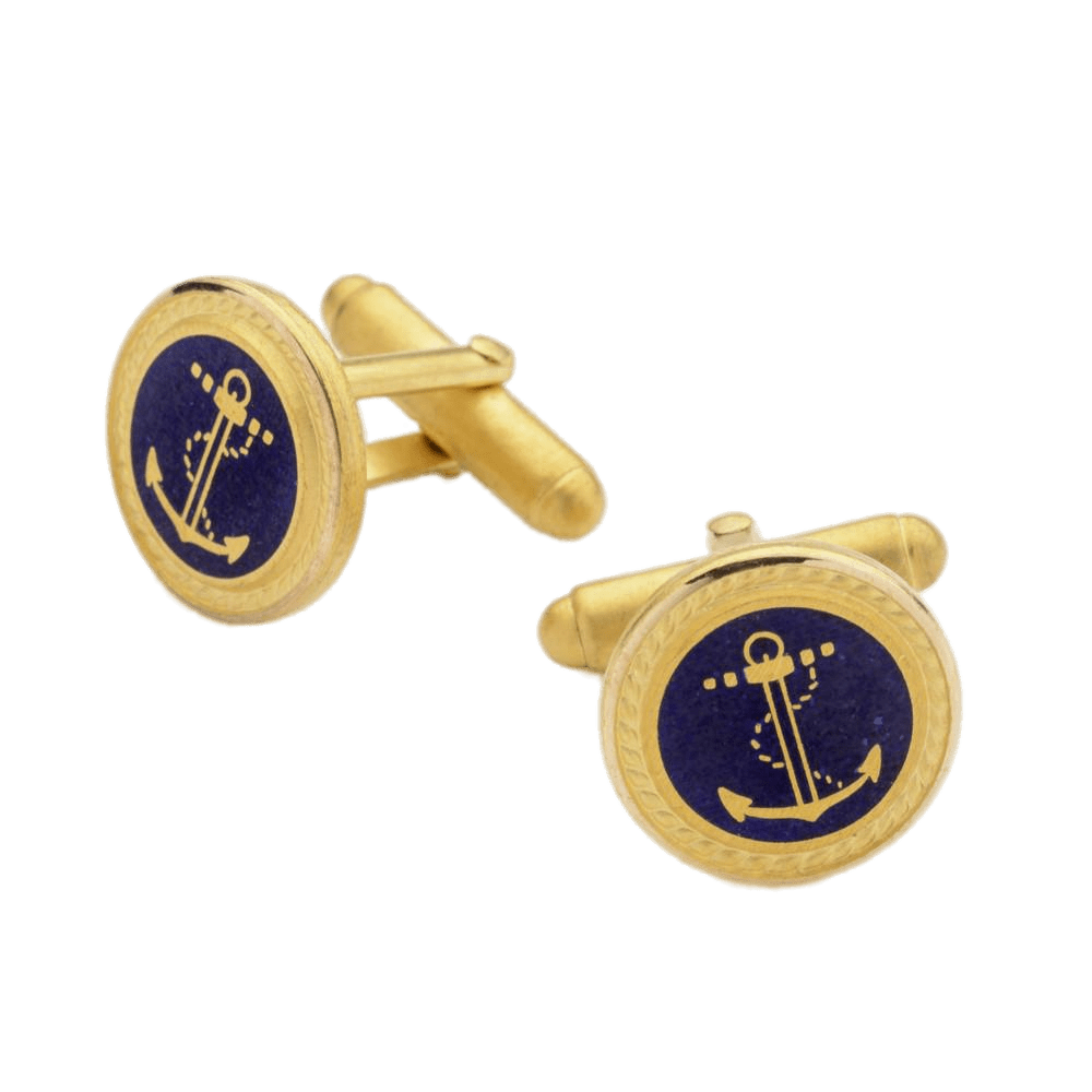 Anchor & Rope Cufflinks transparent PNG.