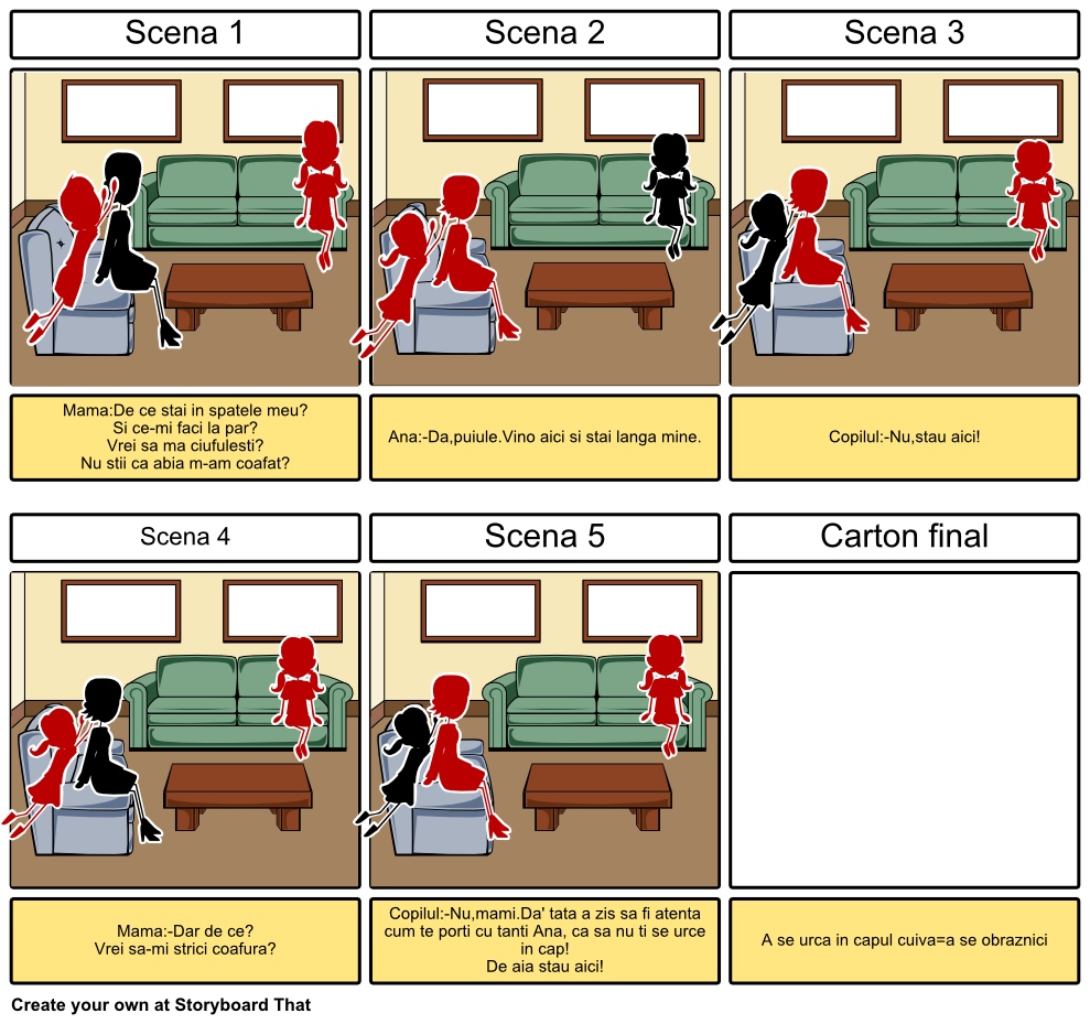 A se urca in capul cuiva Storyboard by carmen53.