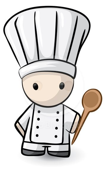 ClipArt Illustration Cute French Inspired Chef du Jour, of Haute.