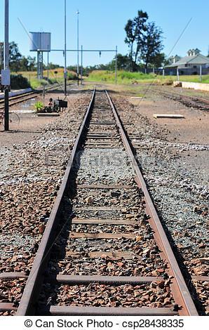 Stock Photos of Cullinan Diamond Mine Railroad Tracks.