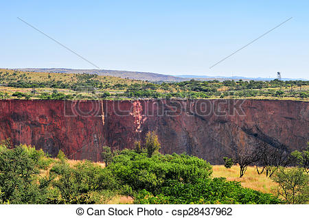 Stock Image of Cullinan Diamond Mine.