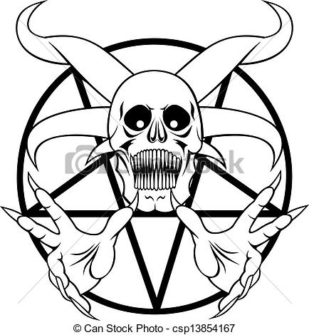 Clip Art Vector of pentagram.