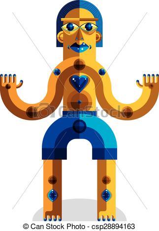 Clip Art Vector of Pagan symbol vector illustration, spiritual.