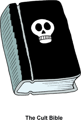 Image: Bible with Skull.