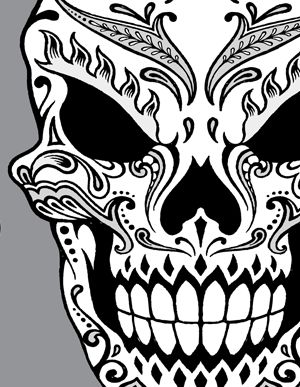 Day Of The Dead Skull Clipart Our second hand drawn day.