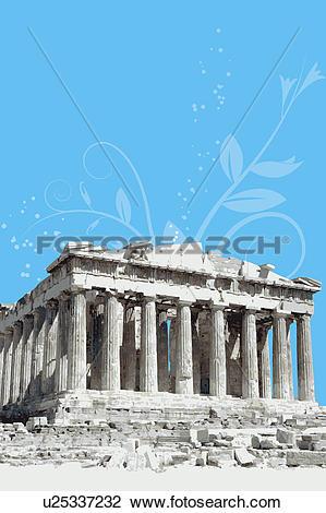Clip Art of Greece, Athens, Acropolis, Parthenon, Capital Cities.