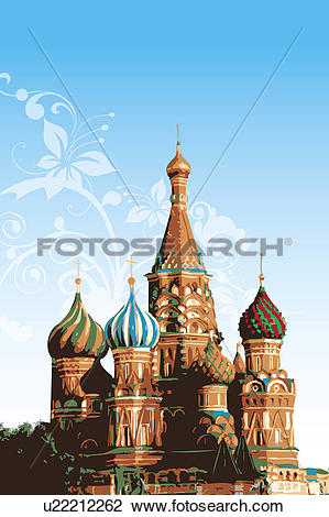 Clip Art of Russia, Moscow, Red square, UNESCO, World Cultural.
