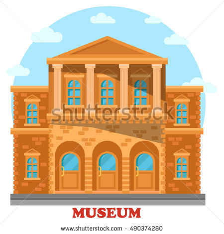Cartoon City Hall Series Cartoon Buildings Stock Vector 104864987.