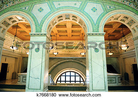 Stock Photography of Chicago Cultural Center i k7668180.