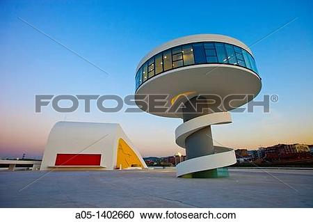 Stock Photography of Oscar Niemeyer Cultural Center, Aviles.