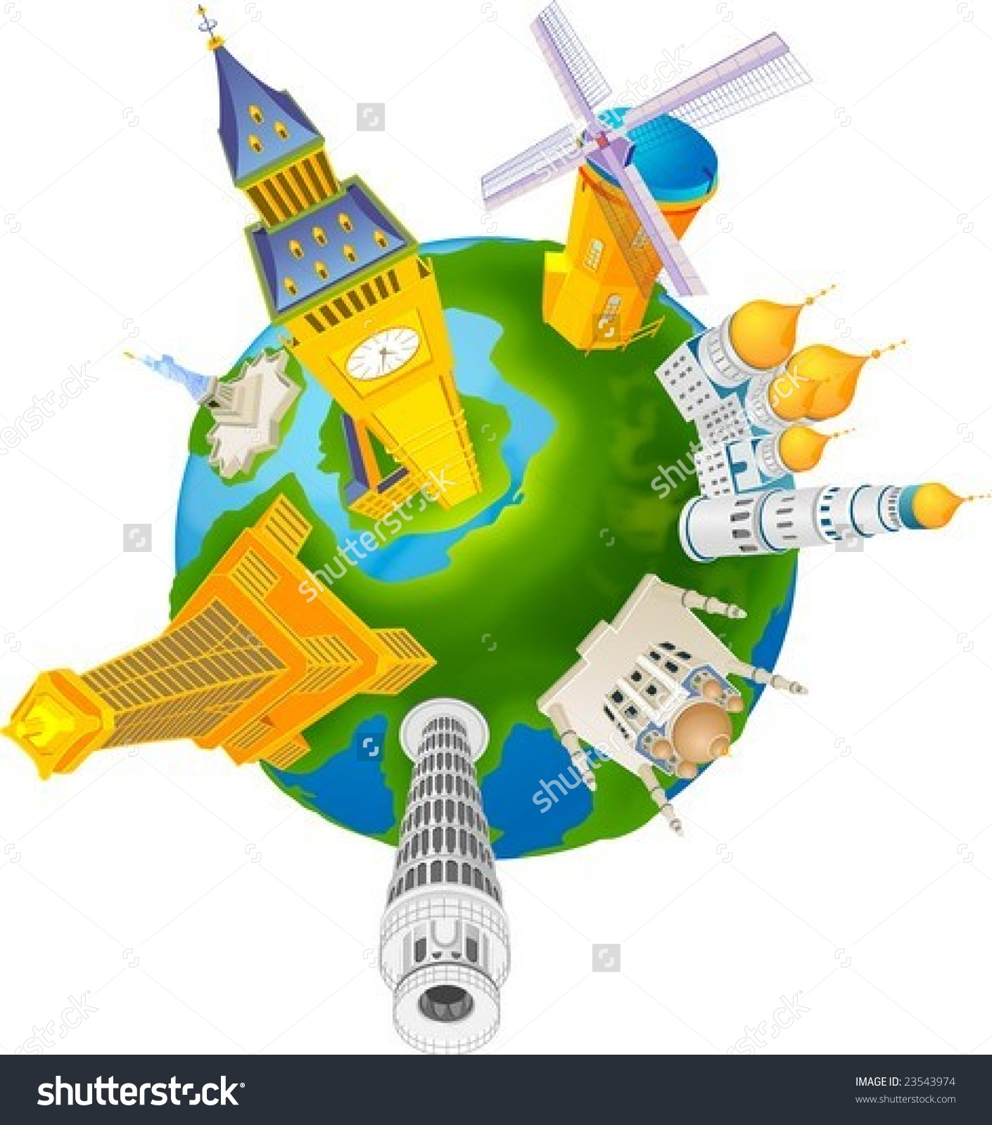 World Travel Isolated On White Background Stock Vector 23543974.