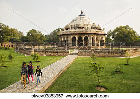 "Picture of ""Humayun's Tomb, Tomb of Isa Khan Niazi, UNESCO World."