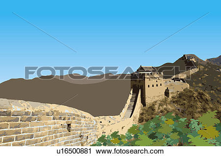 Clipart of China, Great Wall Of China, UNESCO, World Cultural.