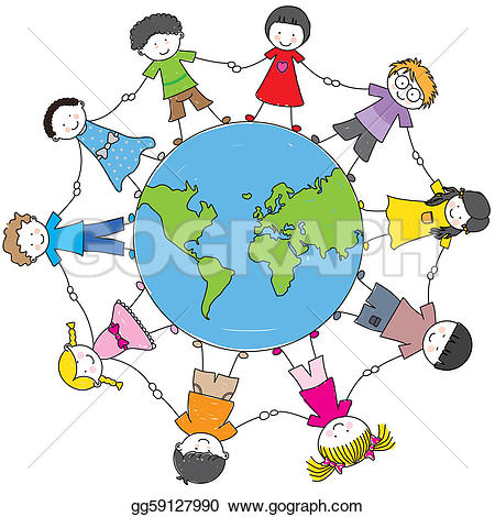 Holding Hands Circle Clip Art.