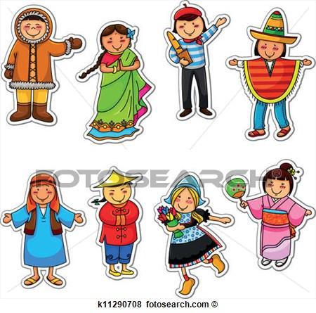 Ethnic diversity clipart.