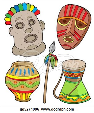 African culture clipart.