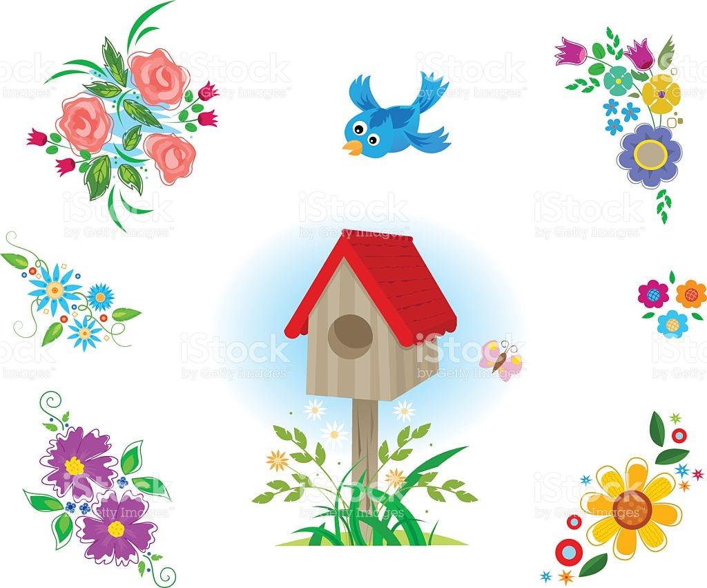 Flowers Clipart stock vector art 488507120.