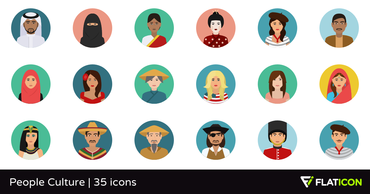 People Culture 35 free icons (SVG, EPS, PSD, PNG files).