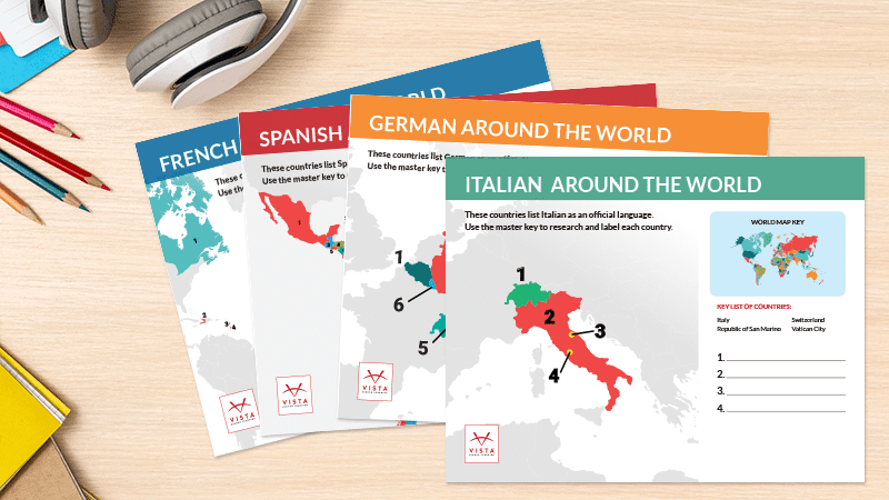 Celebrate Cultures Around the World With Free Language Map Posters.