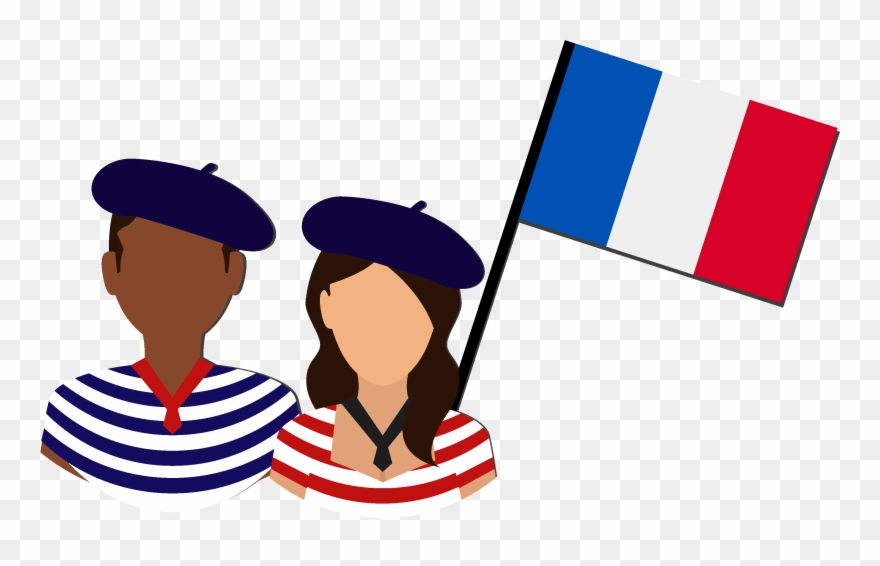 Contribute In Representing The French Culture And Language Clipart.