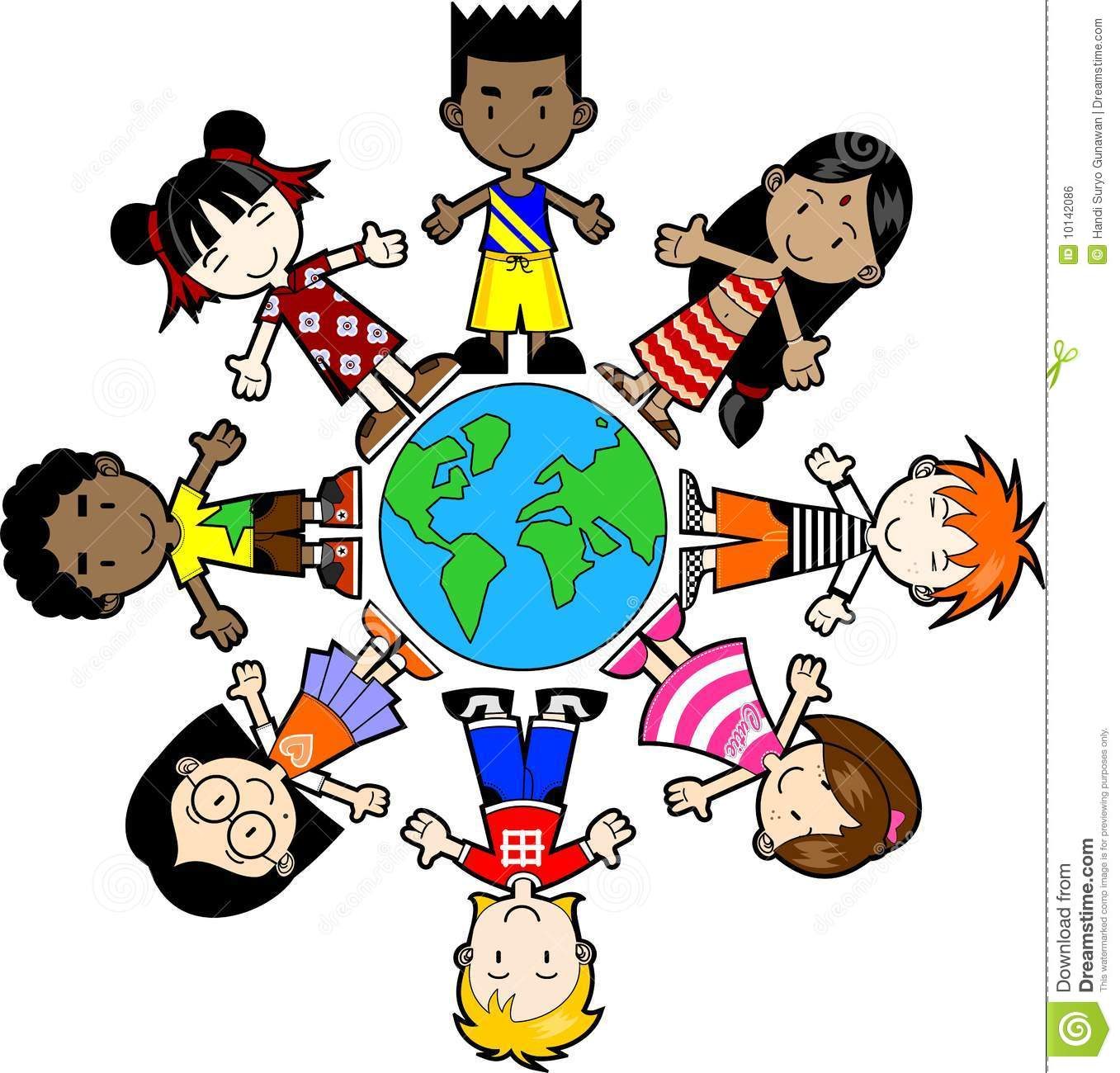 Different cultures around the world clipart.