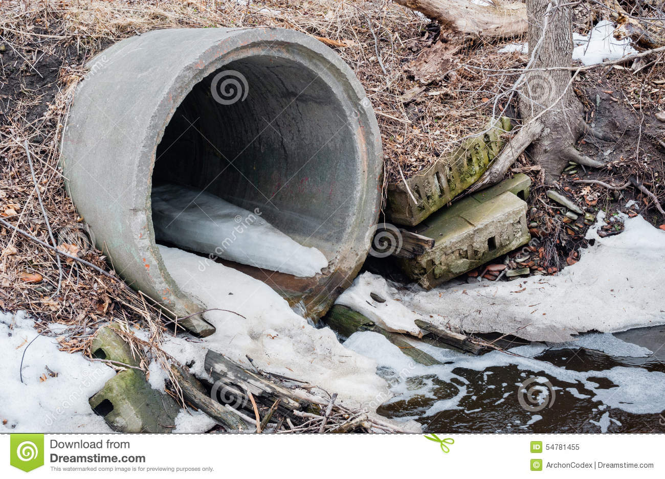 Water Runoff Culvert Stock Photos, Images, & Pictures.