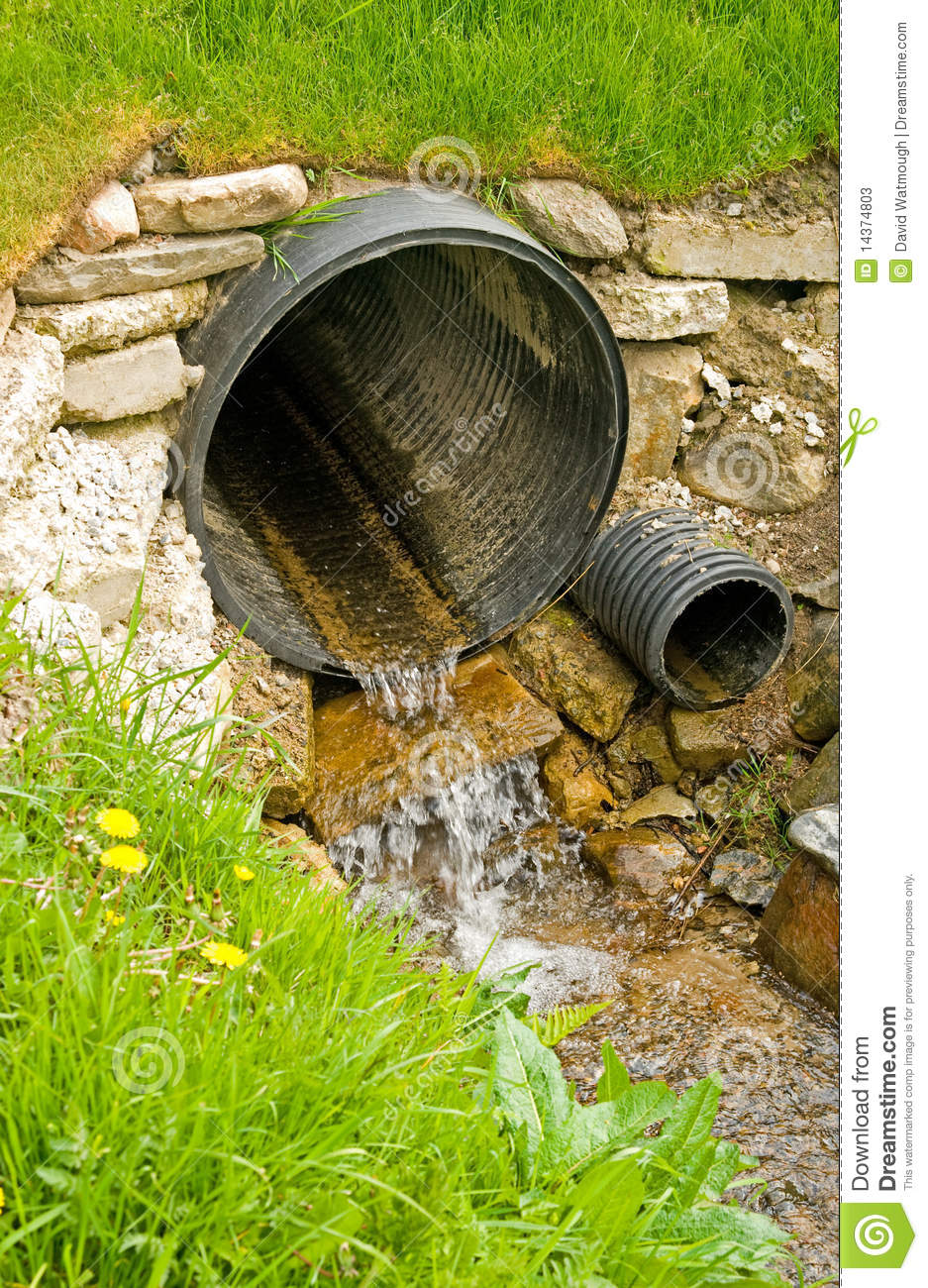 Culvert For Diversion Of Surface Water . Stock Photos.