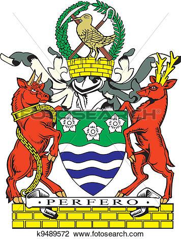 Clipart of Cumberland county coa k9489572.