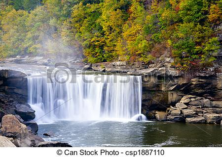 Stock Photography of Cumberland Falls, Kentucky. Beautiful fall.