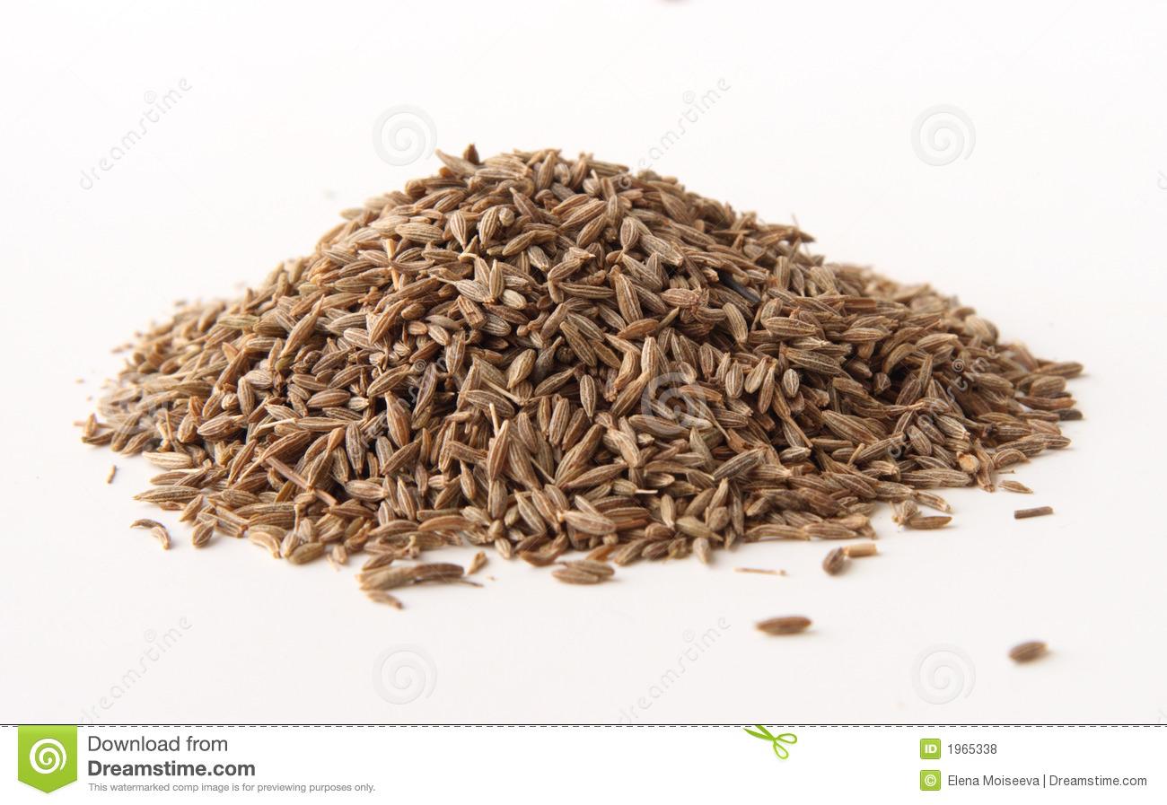 Whole Cumin Seeds Royalty Free Stock Photos.