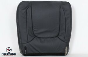 Details about 04 Dodge Ram 2500 Laramie Driver Side Bottom Replacement  Leather Seat Cover Gray.