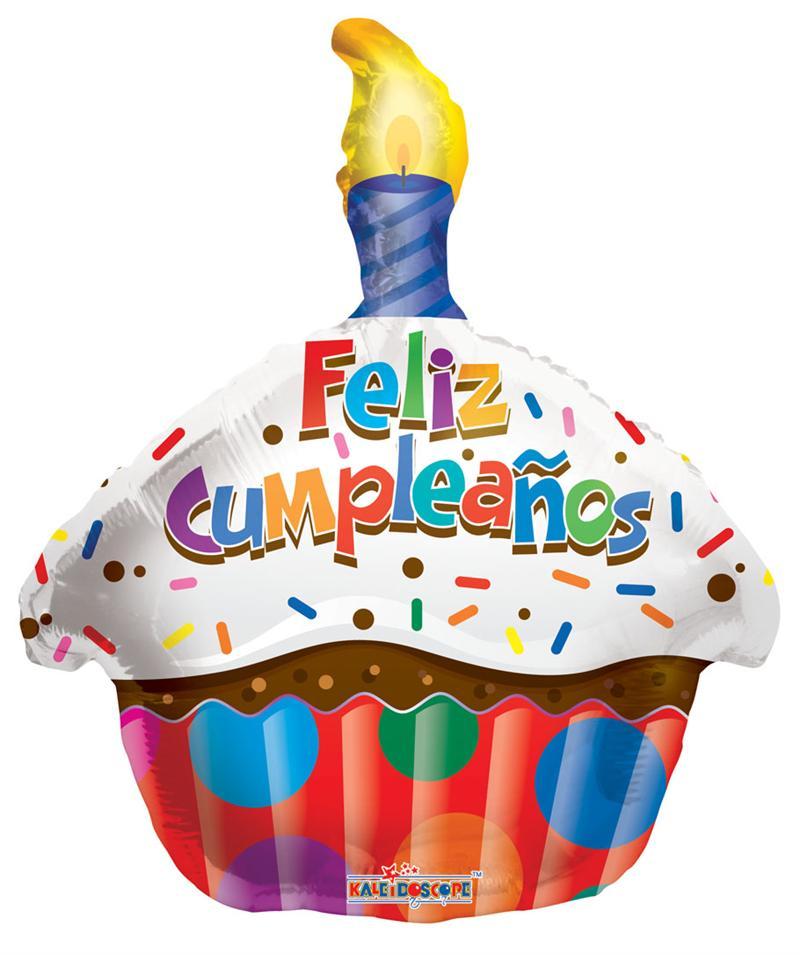18 Feliz Cumpleanos Cupcake.