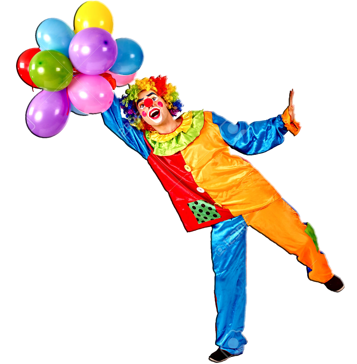 Download Free png Download Cumpleaños Png 3 Clown And Balloons PNG.