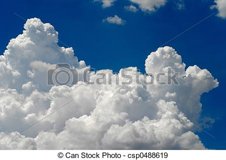 Stock Photographs of cumulus clouds.