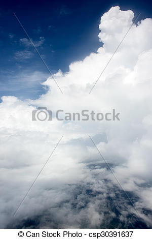 Stock Photos of Cloudscape. Blue sky and white cloud. Sunny day.