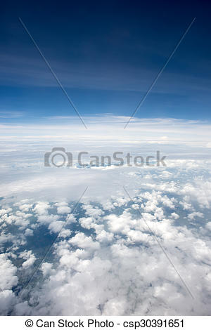 Stock Images of Cloudscape. Blue sky and white cloud. Sunny day.