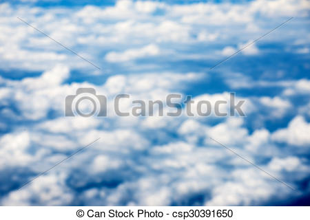 Stock Images of blur Cloudscape. Blue sky and white cloud. Sunny.