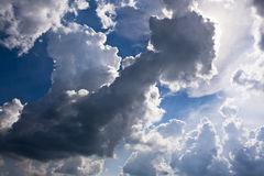 Dark Cumulus Mediocris Cloud Stock Photo.