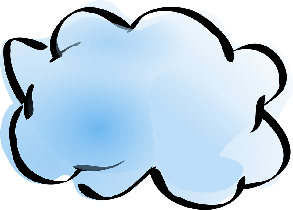 Free vector graphic: Cloud, Weather, Nature, Blue, Water.