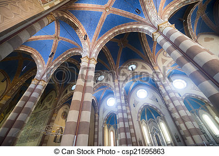 Stock Image of Cathedral of Alba (Cuneo, Italy), interior.