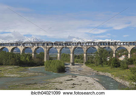 "Stock Photograph of ""Bridge over the Torrente Gesso, Cuneo."