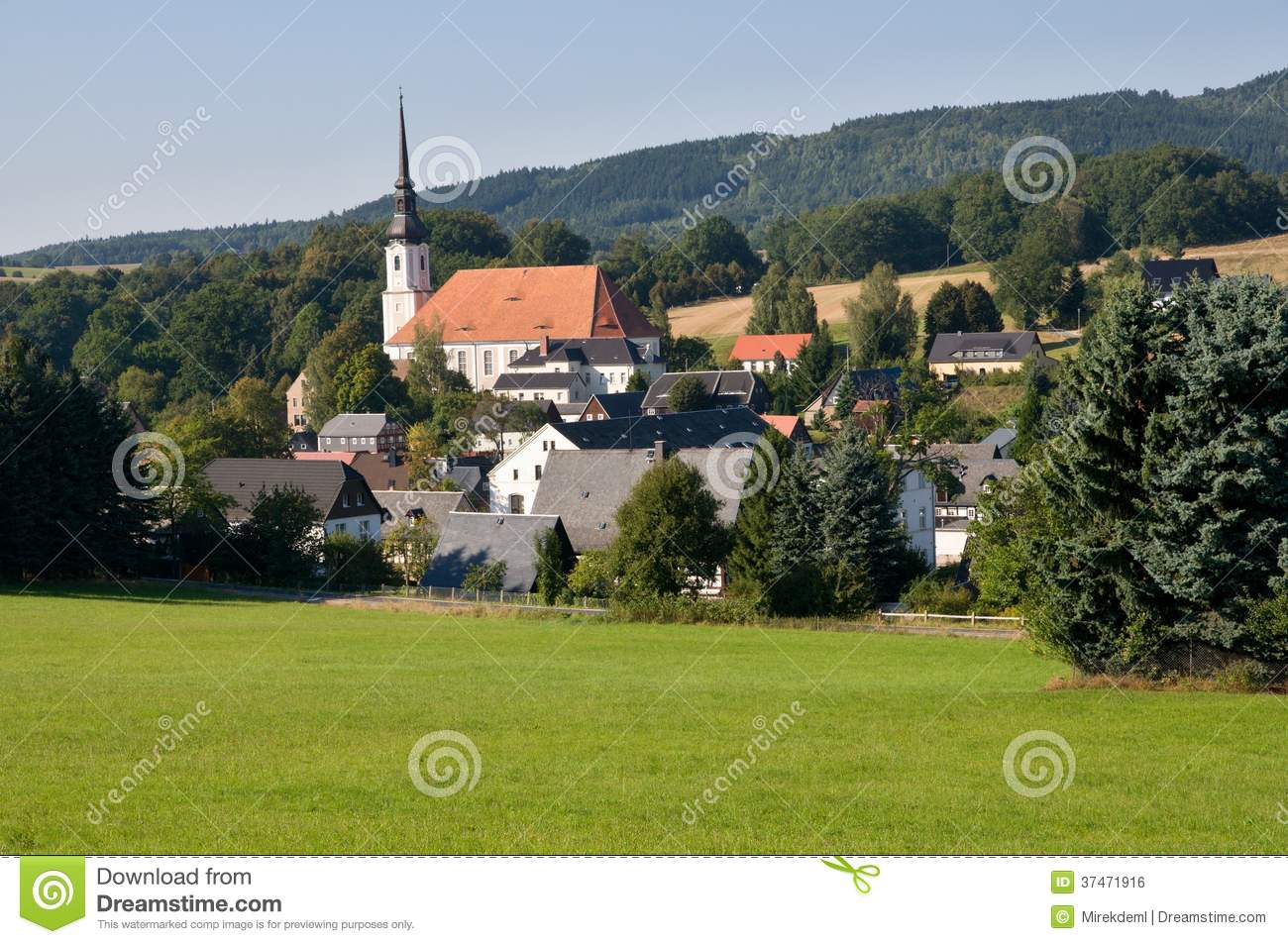 Cunewalde In Oberlausitz, Germany Royalty Free Stock Image.