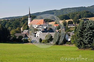 Cunewalde In Oberlausitz, Germany Stock Photos.