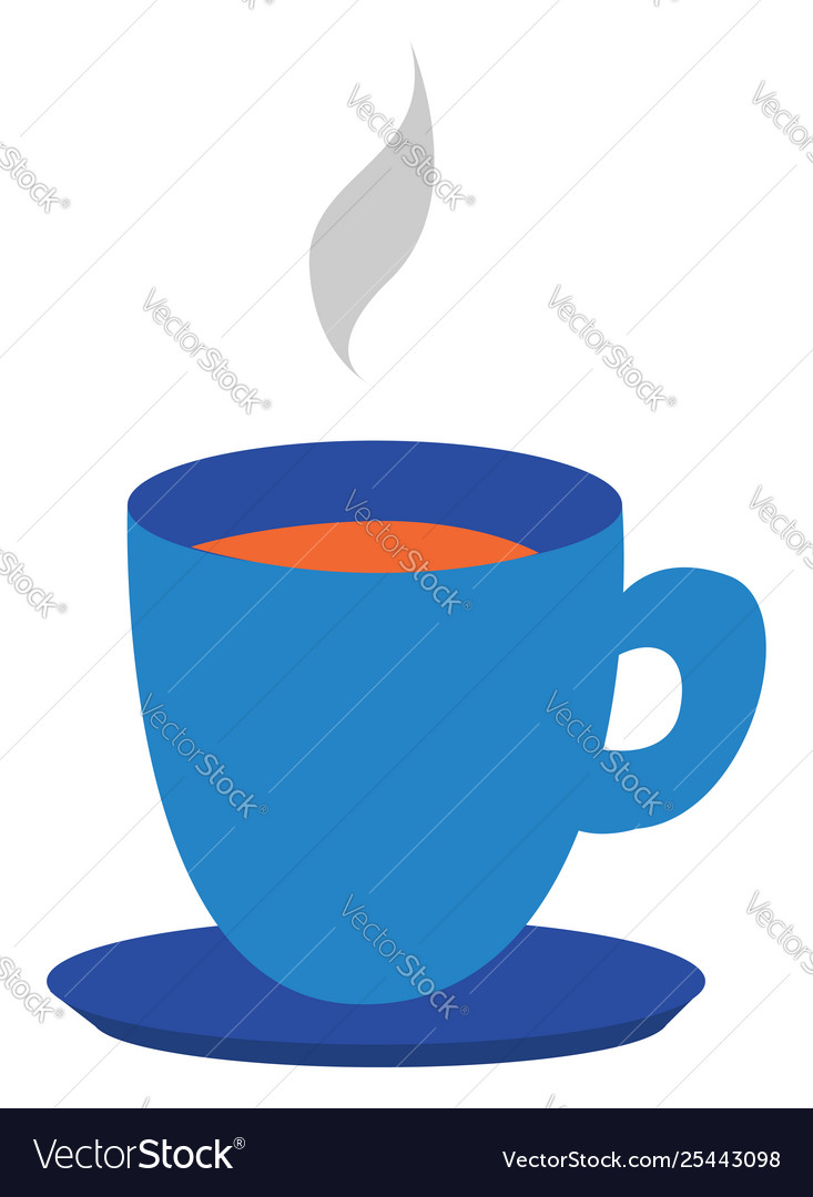 Clipart a blue teacup and saucer filled with.