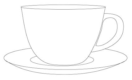 Amazon.com: Home Comforts Laminated Poster Cup Saucer.