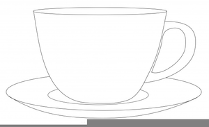 Clipart Of Cup And Saucer.